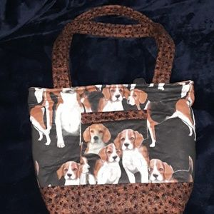 Purse (Beagle design) handmade quilted